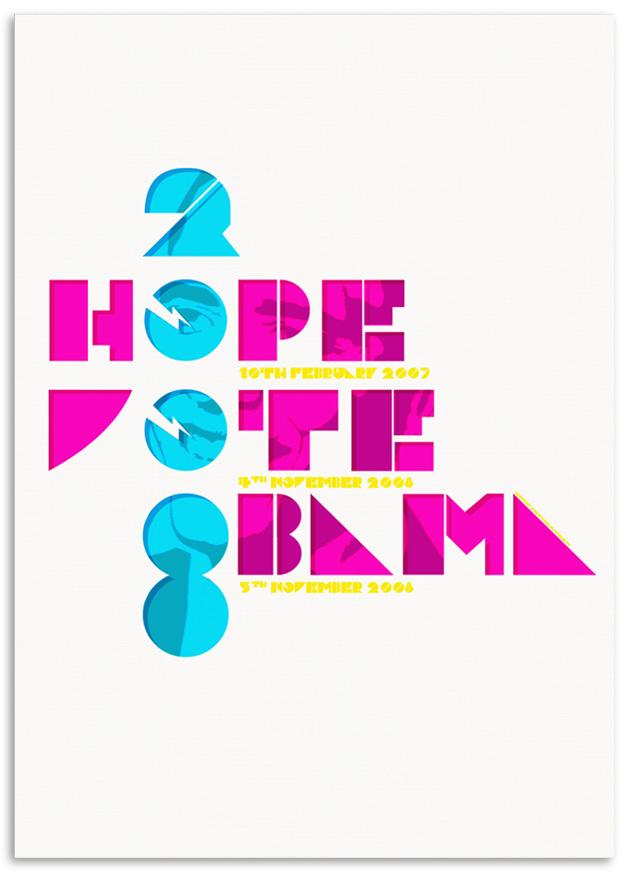 Hope, Vote, Obama 2008